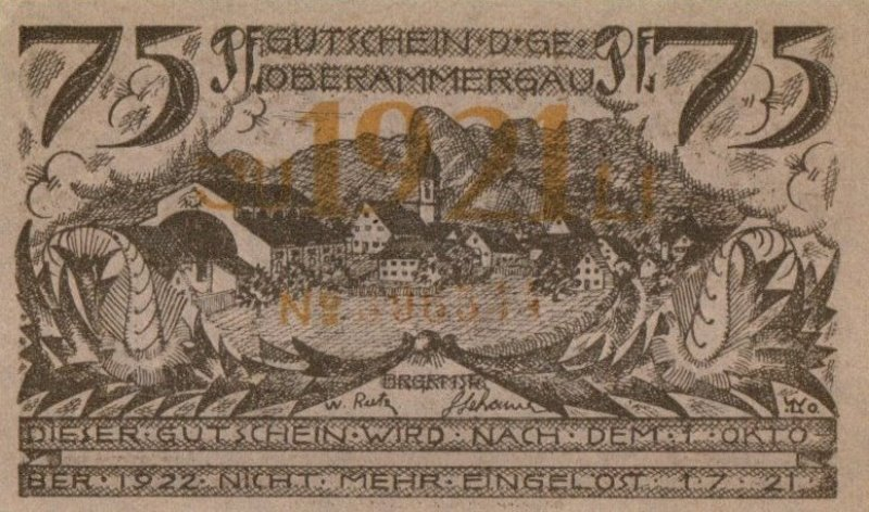 Bank Of Germany - 75 Pfennig 1921, UNC