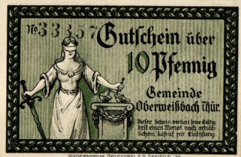 Bank Of Germany - 10 Pfennig 1921, UNC