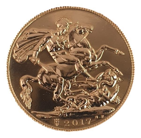 England - 1 Sovereign 2017, Elizabeth, UNC