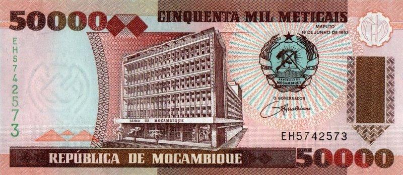 Bank Of Mocambique - 50.000 Meticals 1993, UNC