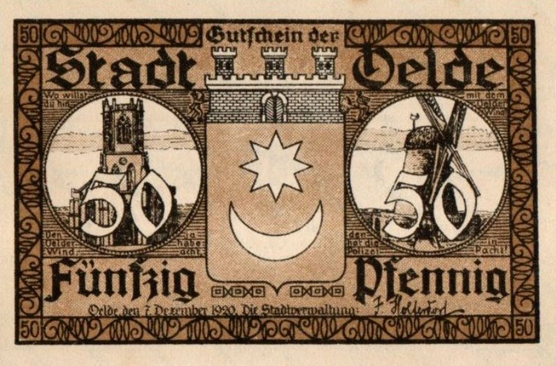 Bank Of Germany - 50 Pfennig 1921, UNC