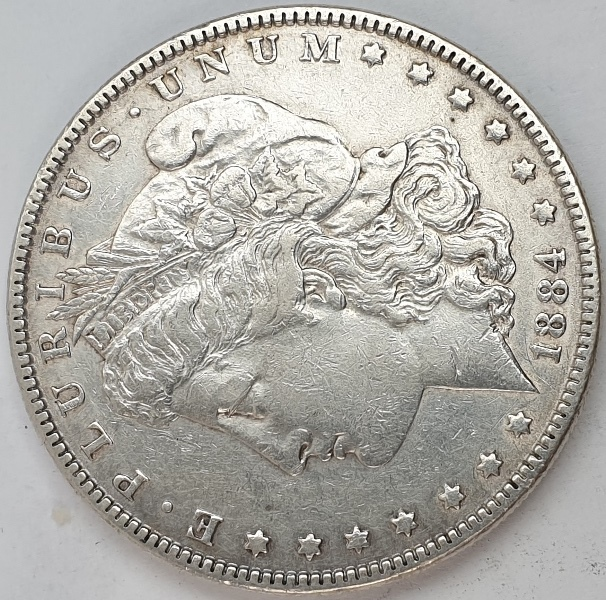 USA - 1 Dollar 1884, Silver