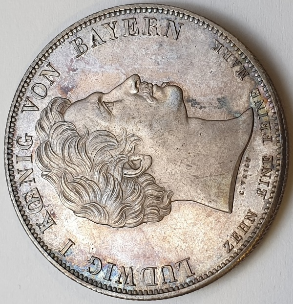 Germany - 1 Thaler 1827 Bavaria, Silver