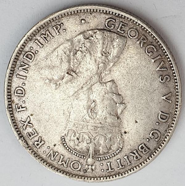 Australia - 1 Florin 1927, George V, Silver