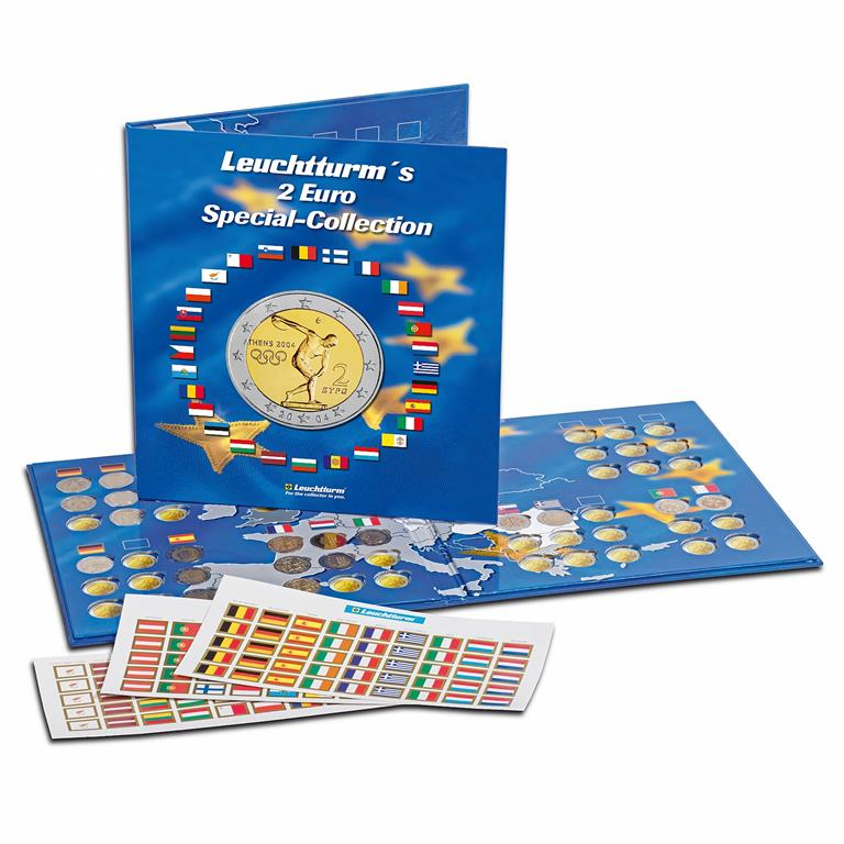 Lighthouse - Coin Album , Euro-collection for ( 57 ) 2-euro coins