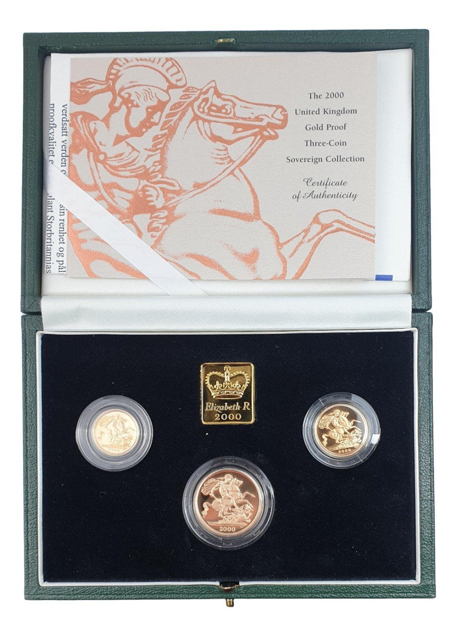 England - Three Coin Sovereign Collection 2000, Gold Proof