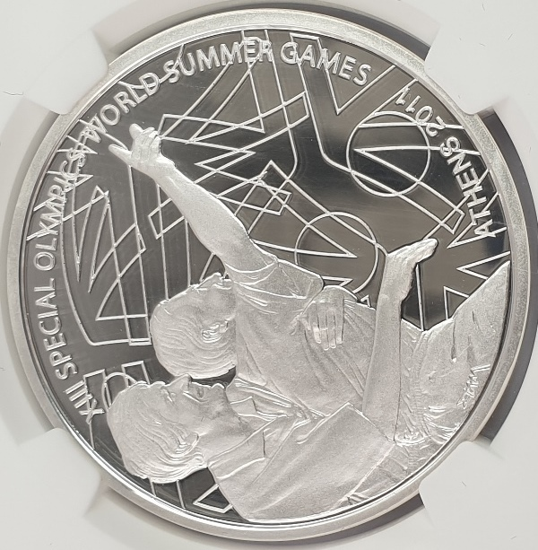 Greece - 10 Euro 2011, XIII Special Olympics the Event (PF 70 ULTRA CAMEO)