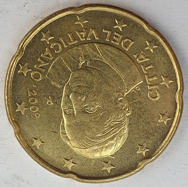 Monaco - 20 Euro Cent 2009, Benedictus XVI, UNC