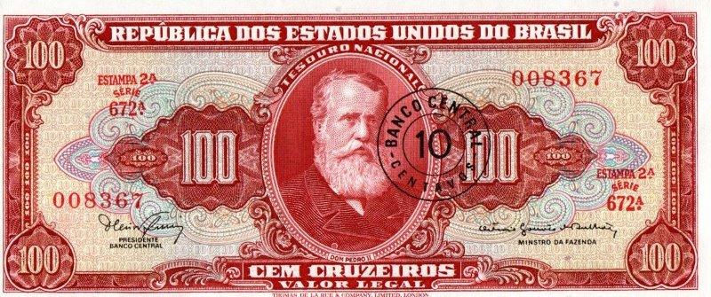 Bank Of Brazil - 10 Centavos 1966 - 1967, UNC