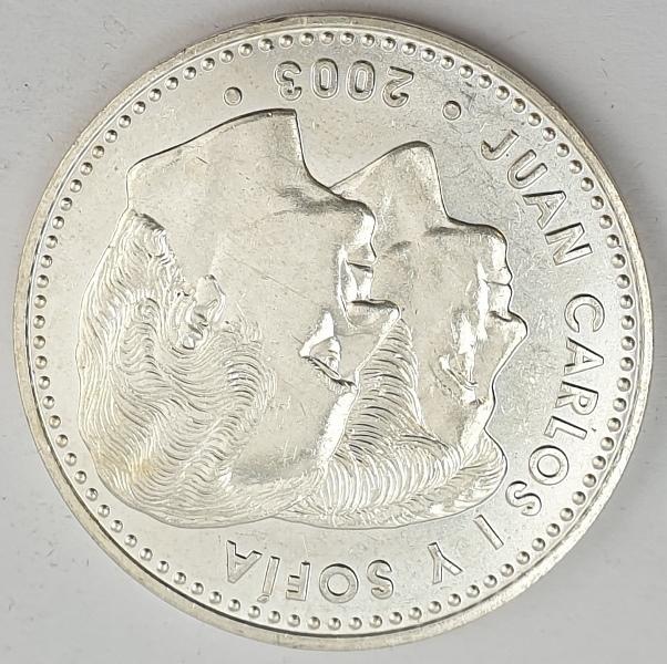 Spain - 12 Euro 2003, Juan Carlos I Constitution, Silver