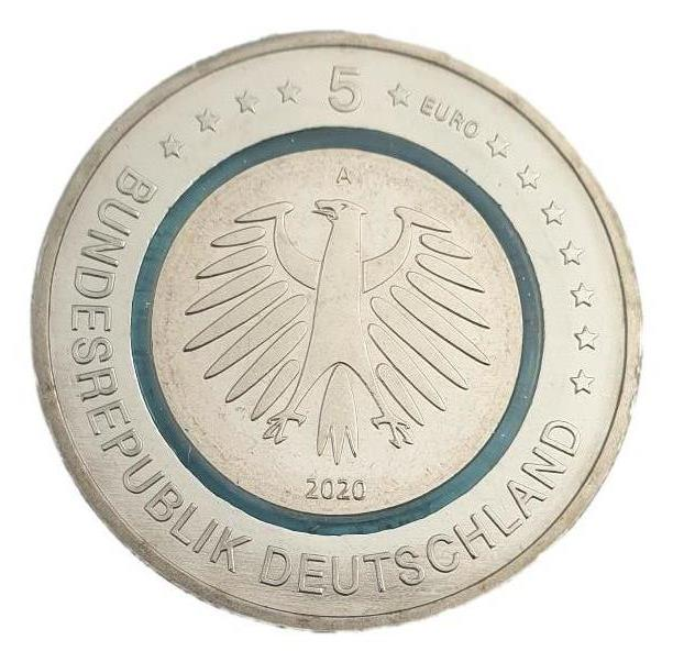 Germany - 5 Euro 2020, Subpolar Zone, UNC