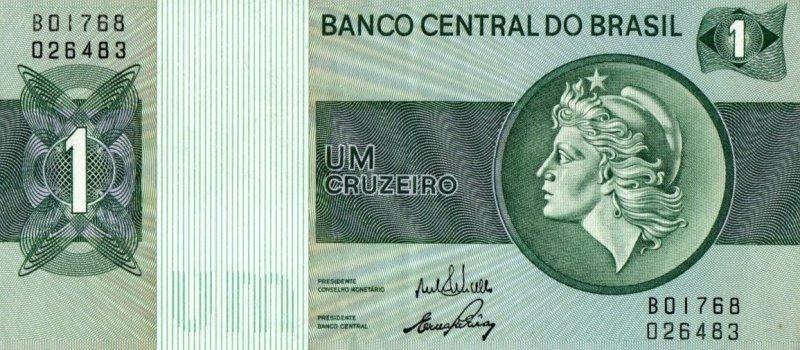 Bank Of Brazil - 1 Cruzeiro 1972 - 1980, UNC