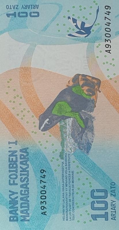 Bank Of Madagasikara - 100 Ariary Zato 2017, UNC