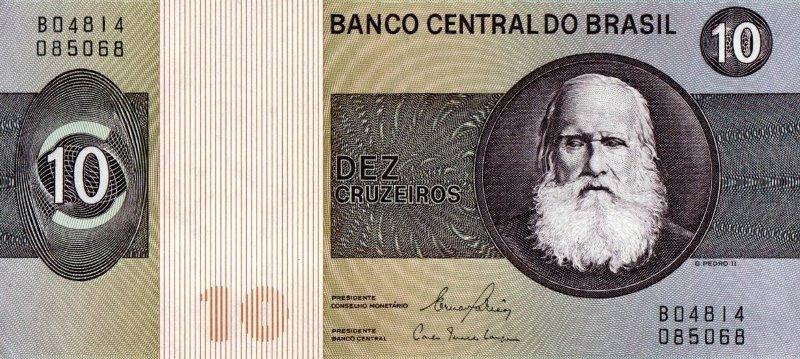 Bank Of Brazil - 10 Cruzeiros 1970 - 1980, UNC