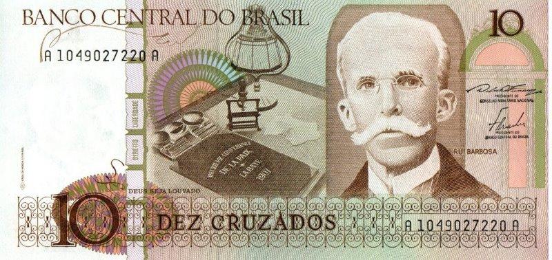 Bank Of Brazil - 10 Cruzados 1986 - 1987, UNC