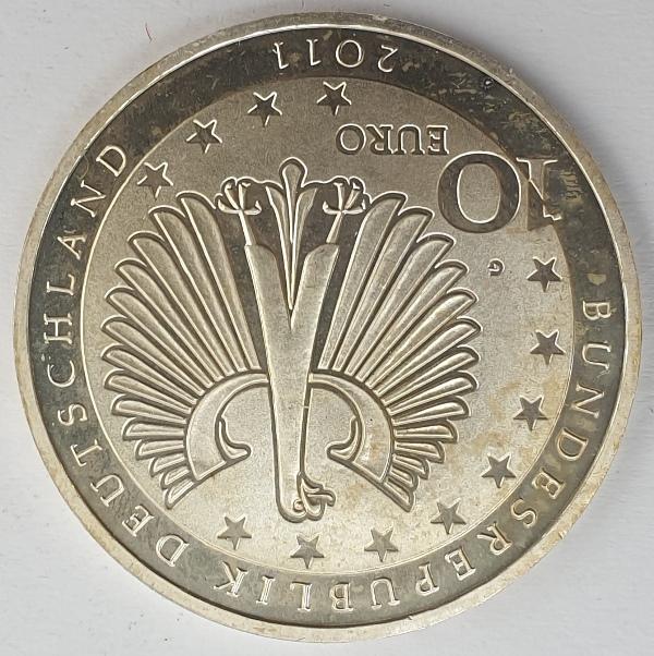 Germany - 10 Euro 2011, Franz Liszt, Silver