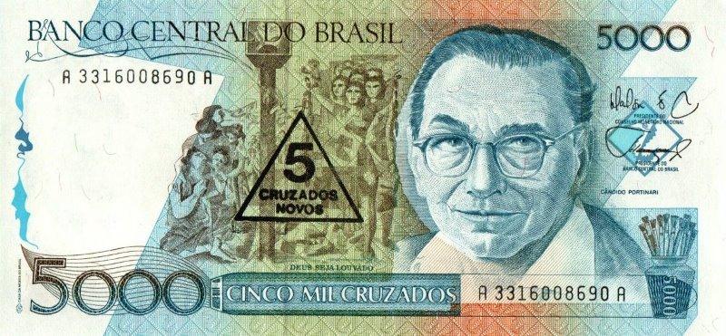 Bank Of Brazil - 5 Cruzados Novos 1989, UNC