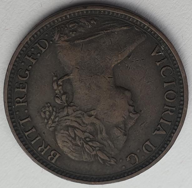 England - 1 Farthing 1891, Victoria