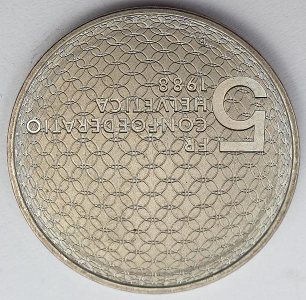 Switzerland - 5 Francs 1988, Olympic Movement