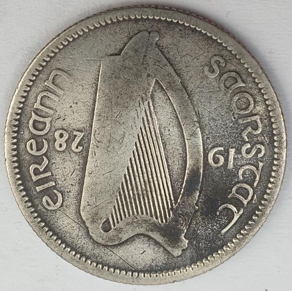 Ireland - 1 Scilling 1928, Silver