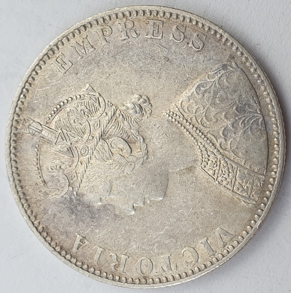 India - 1 Rupee 1893, Victoria, Silver