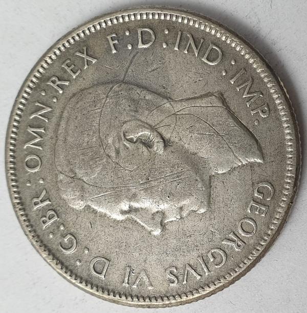Australia - 1 Florin 1946, George VI, Silver