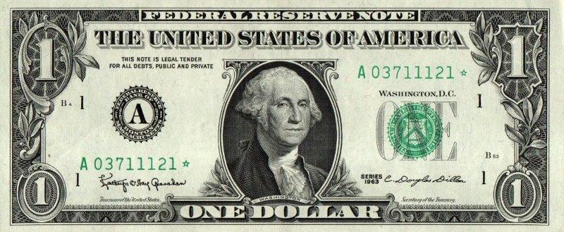Bank Of USA - 1 Dollar 1963, Federal
