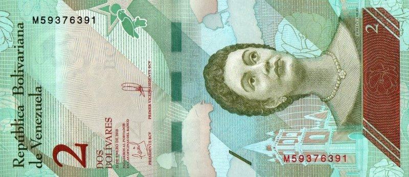 Bank Of Venezuela - 2 Bolivares 2018, UNC
