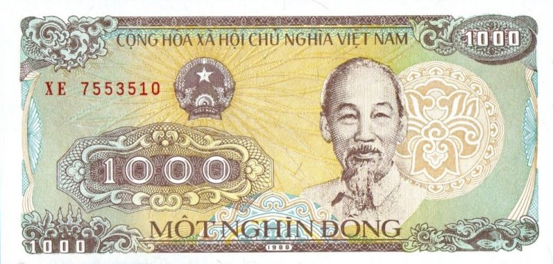 Bank Of Viet Nam - 1000 Dong 1988, UNC