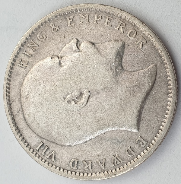 India - 1 Rupee 1904, Edward VII, Silver