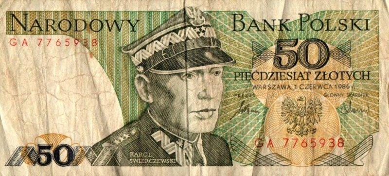 Bank Of Poland - 50 Zlotych 1986