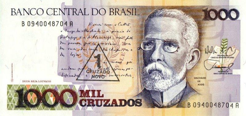 Bank Of Brazil - 1 Cruzado Novo 1989, UNC