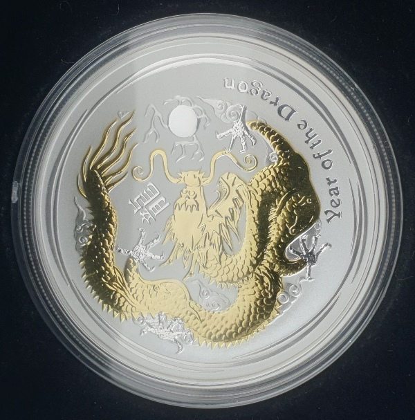 Australia - 1 OZ 2012 - Year of the dragon, Silver 999*