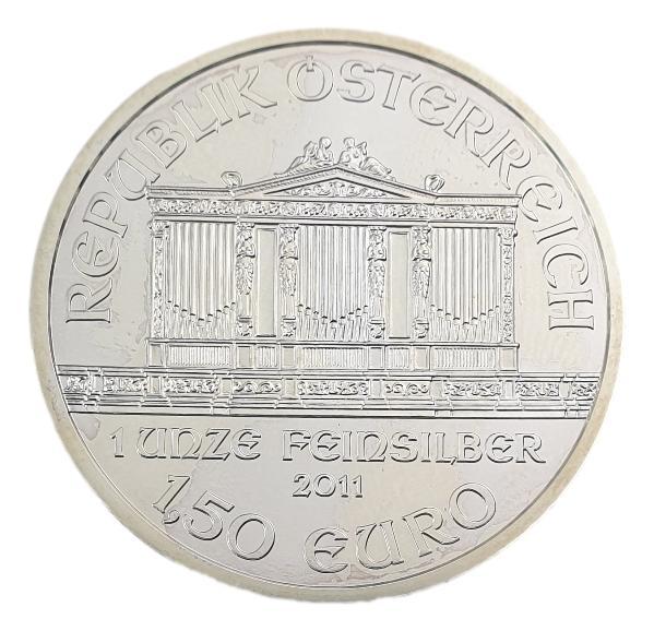 Austria - 1 and Half Euro 2011, Vienna Philharmonic, Silver 999*