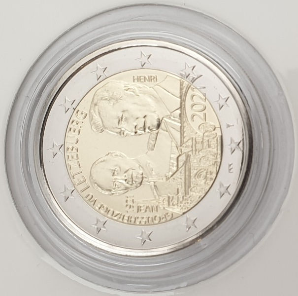 Luxembourg - 2 Euro 2021 A, BU, (Coin Card)