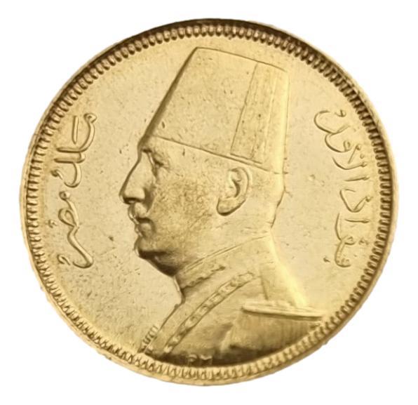 Egypt - 20 Qirsh 1929 - 1930, Fuad, UNC, Gold