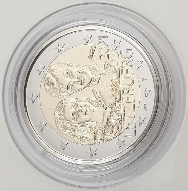 Luxembourg - 2 Euro 2021 C, BU, (Coin Card)