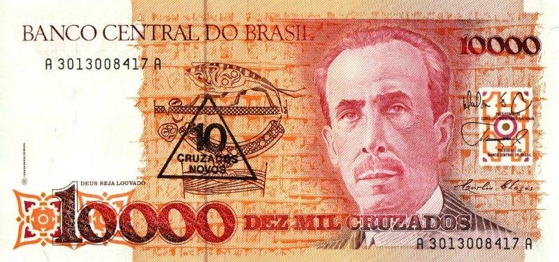 Bank Of Brazil - 10 Cruzados Novos 1989, UNC