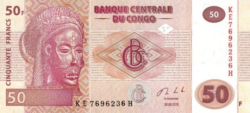 Bank Of Congo - 50 Francs 2013, UNC