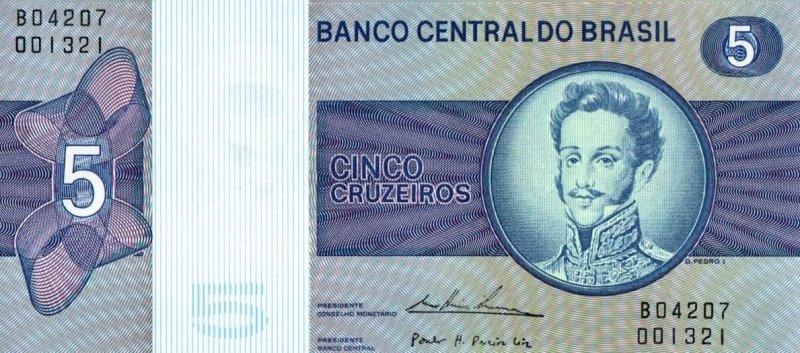 Bank Of Brazil - 5 Cruzeiros 1970 - 1979, UNC