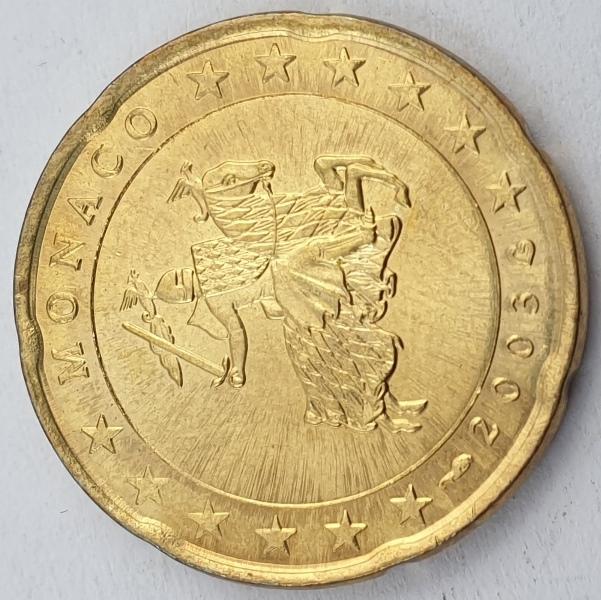 Monaco - 20 Euro Cent 2003, Rainier III, UNC