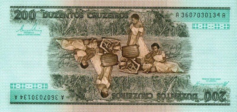 Bank Of Brazil - 200 Cruzeiros 1981 - 1984, UNC