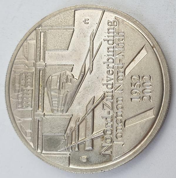 Belgium - 10 Euro 2002, Albert II, Belgian Railway, Silver