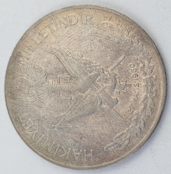 Turkey - 10 Lira 27 May 1960, Revolution, Silver