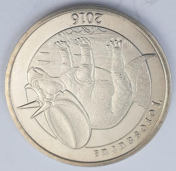 Mayotte - 1 Franc 2016 (Torosaurus)