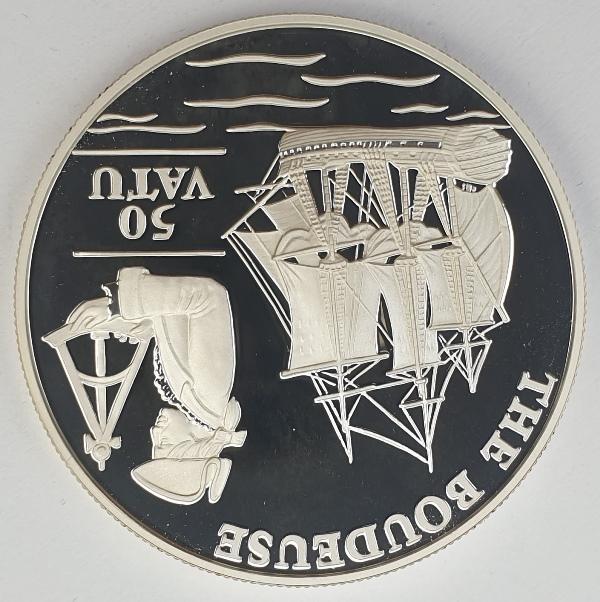 Vanuatu - 50 Vatu 1993, The Boudeuse, Silver