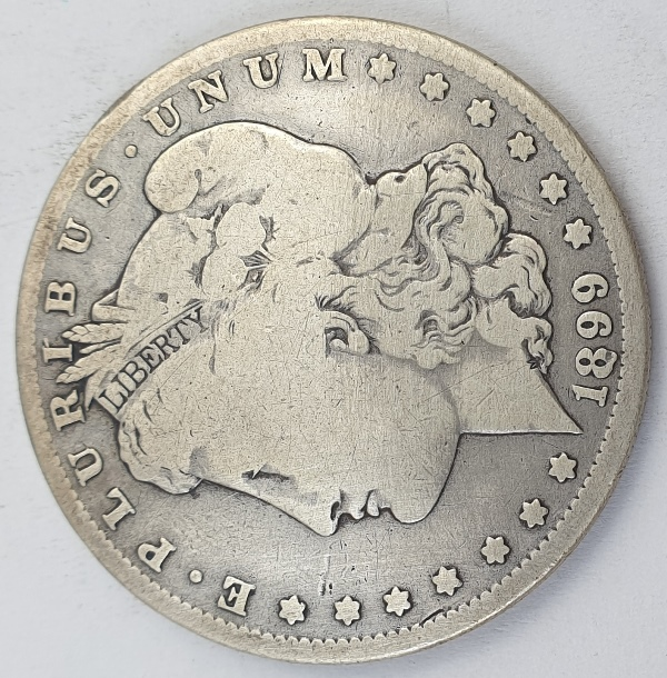"USA - 1 Dollar 1899(O), ""Morgan Dollar"", Silver"