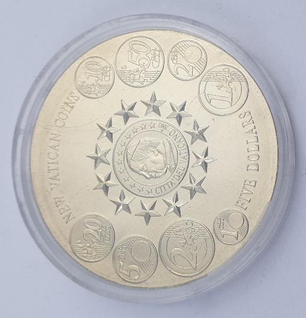 Liberia - 5 Dollars 2004, New Vatican Coins