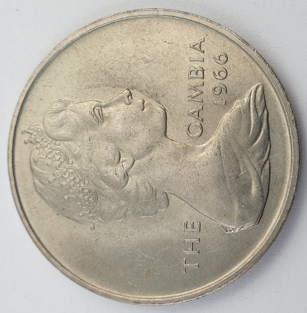 Gambia - 4 Shillings 1966, Elizabeth II