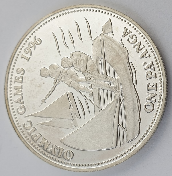 Tonga - 1 Pa'anga 1992, Taufa'ahau Tupou IV, Sailing, Silver